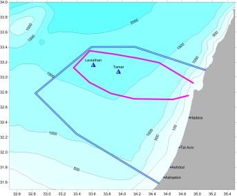 Israeli EEZ and seaglider track