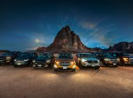 Driving SUVs in Jordan with Ford