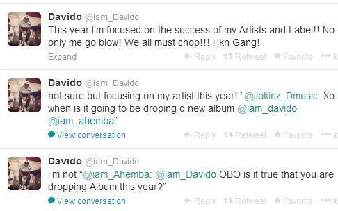Don't Expect Much From Me This Year – Davido Tells Fans (See His Reasons)