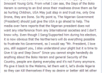 AfroCandy Facebook NL1 SHOCKING: AfroCandy Tells President Jonathan To Step Down Over Boko Haram