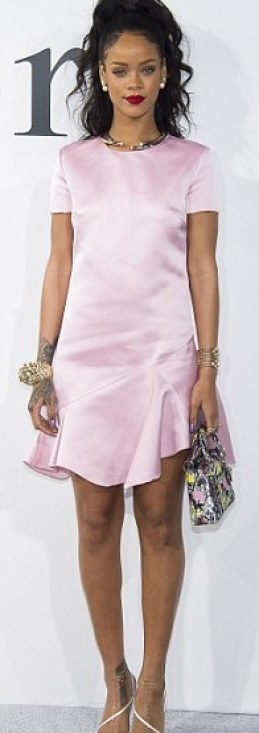 Rihanna now making sense4 Rihanna Now Making Sense: In Pink Dress at the Dior Cruise Fashion Show