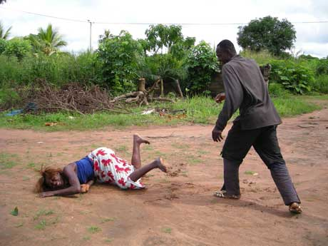 man beating wife Wickedness:  Man Beats Pregnant Wife To Death