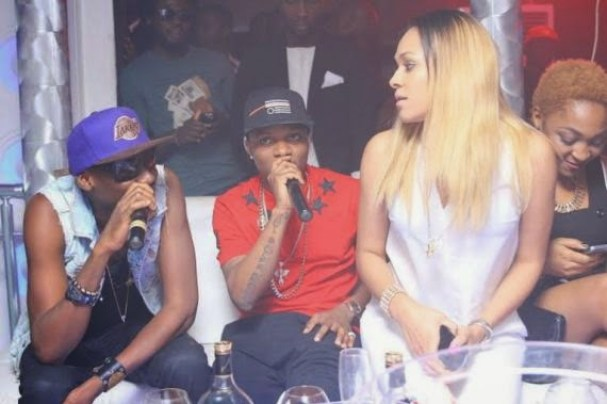 wizkid and tania Wizkid Parties With Girlfiend At Hennessy Artistry Club Tour [See Photo]