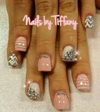 24 Pink Nail Designs with Diamonds
