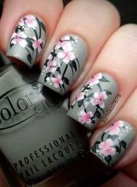 14 Spring Gray Base Nails Pictures 2017