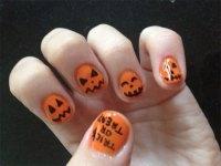 Halloween Pumpkin Nail Art Designs | Nail Design Ideaz