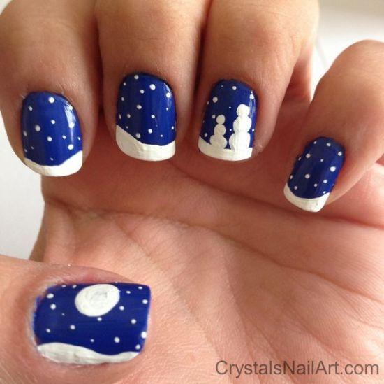Snowflake Nail Art Tutorial: Easy Winter Nail Designs