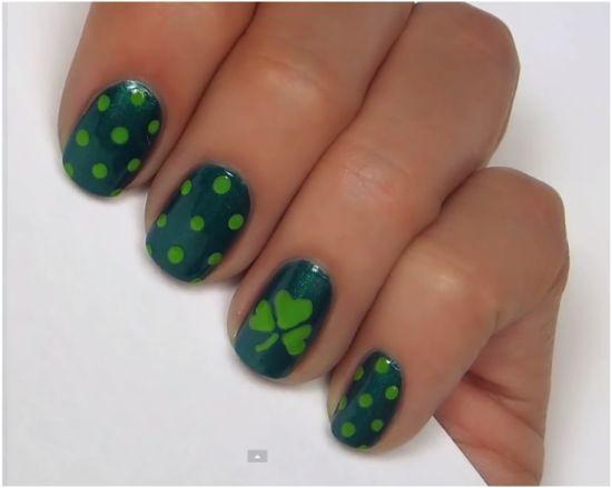 31 Glam Stpatrick39s Day Nail Designs Nail Design Ideaz