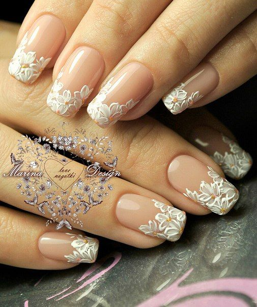 30 Elegant Wedding Nail Designs Nail Design Ideaz