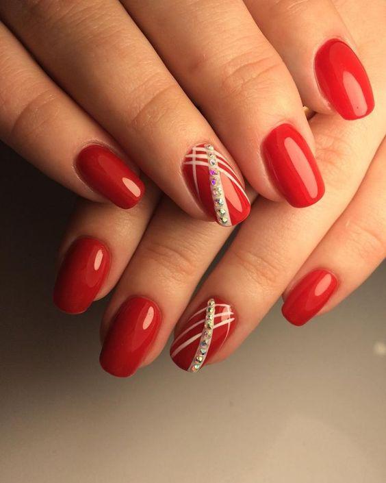 34 Elegant Red Nails