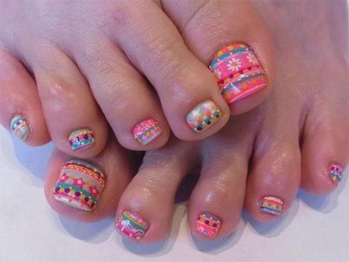 Nail Art For Your Beautiful Feet Nailkartcom