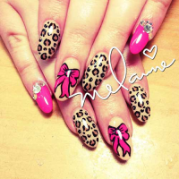 Nail Art Tutorial: Bows and Leopard Nails - Nailpro