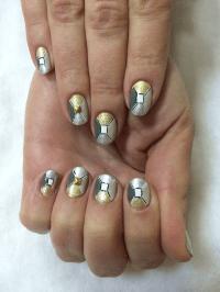 Nail Art Tutorial, Nail Designs, Nail Art How To, Metallic ...