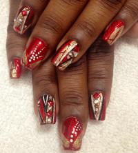 Nail Art Tutorial, Nail Designs, Red Nails, Cherry Bomb Nails