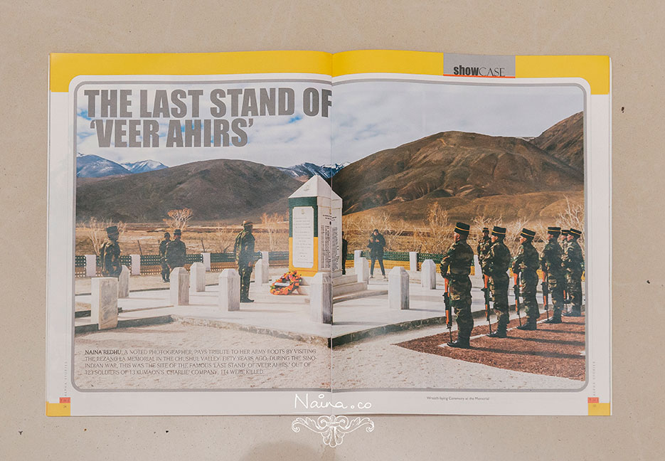 The Alpha Stories, Indian Armed Forces Magazine, Nishtha, Indian photographer Naina Redhu, Rezang La, 13 Kumaon.