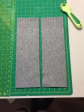 Two five inch wide strips from the back