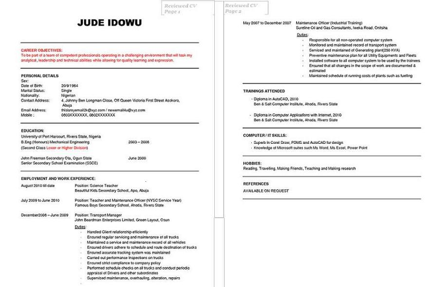 Cv Curriculum Vitae The Different Formats September 2017 Free Cv Review For Students And Jobseekers Jobsvacancies