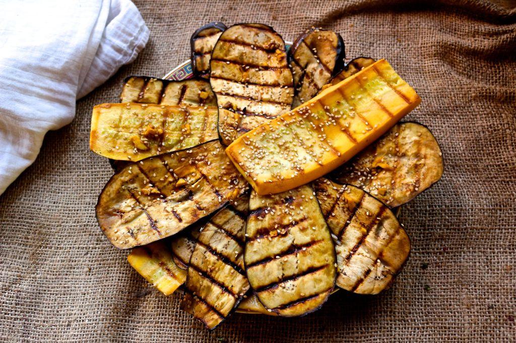 ginger sesame grilled eggplant