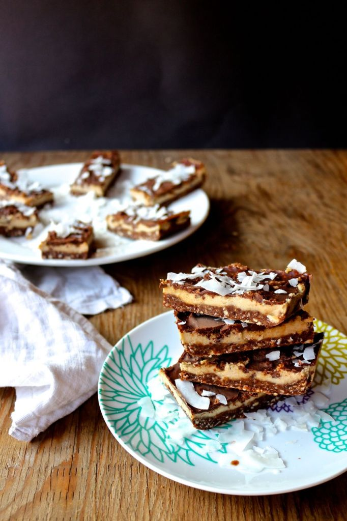 creamy chocolate crunch bars