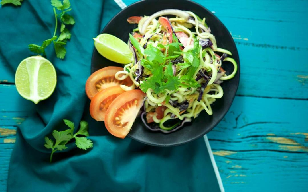 Raw Zucchini Noodle Pad Thai