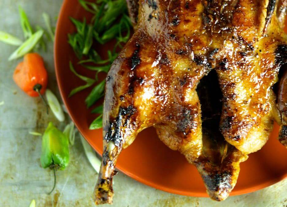 Crispy Roast Duck with Habanero Honey Glaze