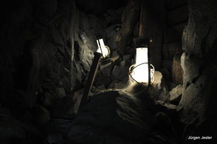 Bergwerk mit Laterne
