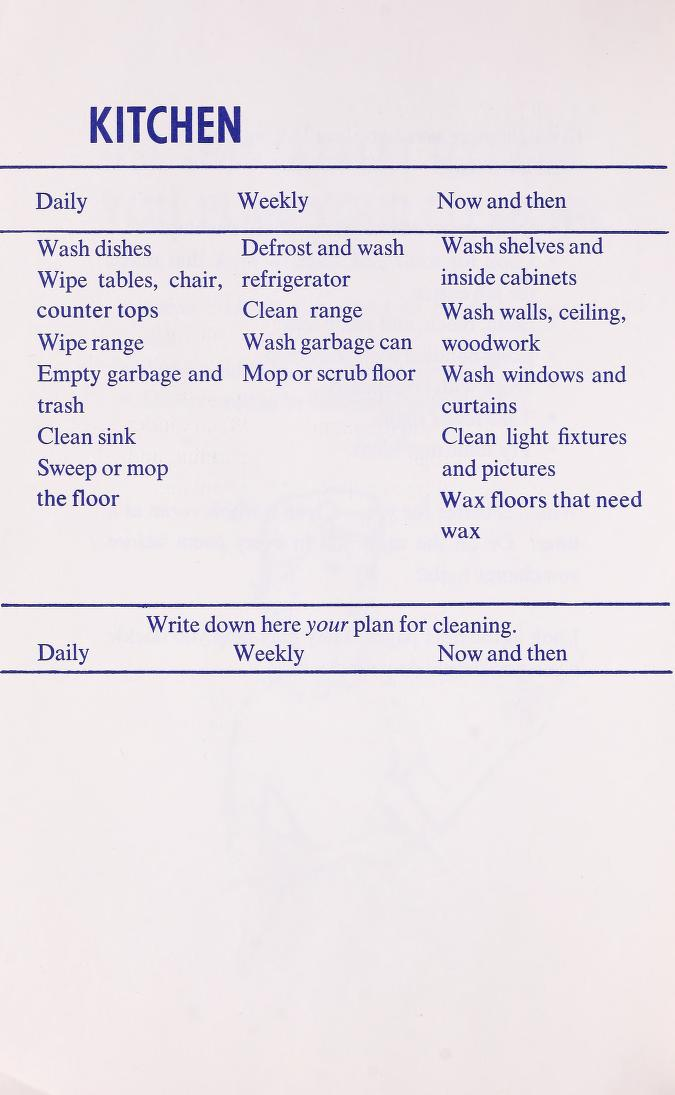Apron Strings and Kitchen Sinks When To Do House Cleaning Jobs - clean house jobs
