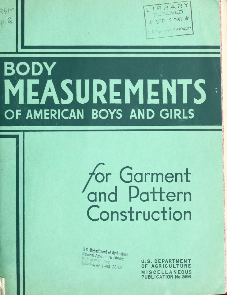 Apron Strings and Kitchen Sinks Body Measurements of American Boys