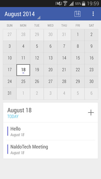 Download Calendar App With Material Design Android L Theme - NaldoTech