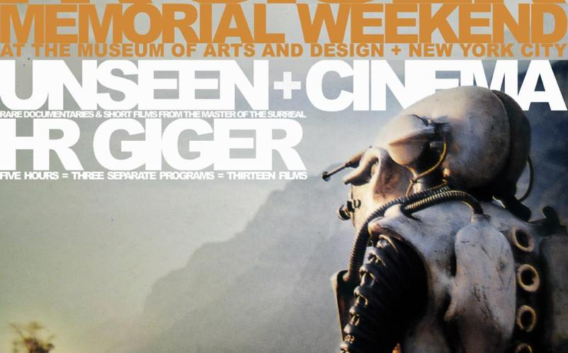 Poster for THE UNSEEN CINEMA OF HR GIGER at NYC's MAD, 2015