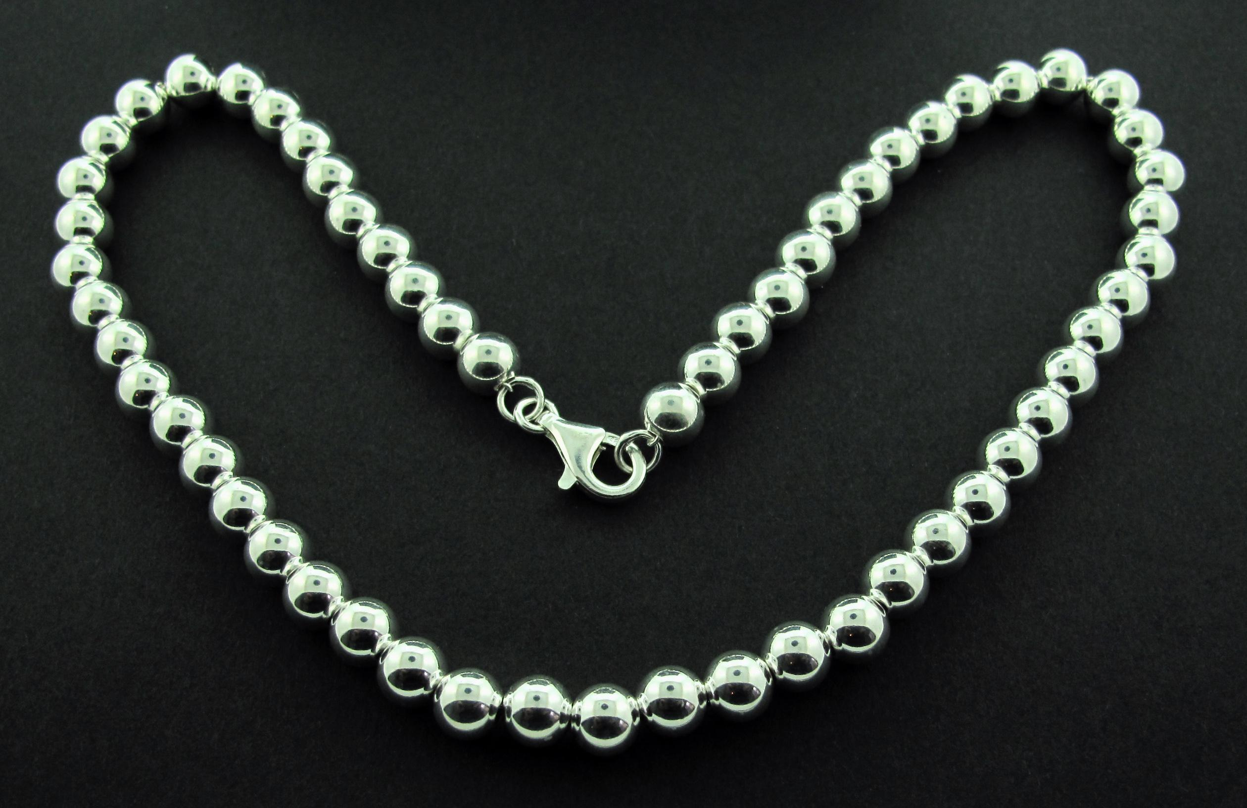 Silver Ball Necklace Images