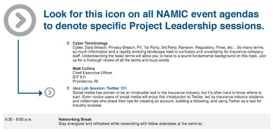 NAMIC - NAMIC Ongoing Leadership Education - event agendas