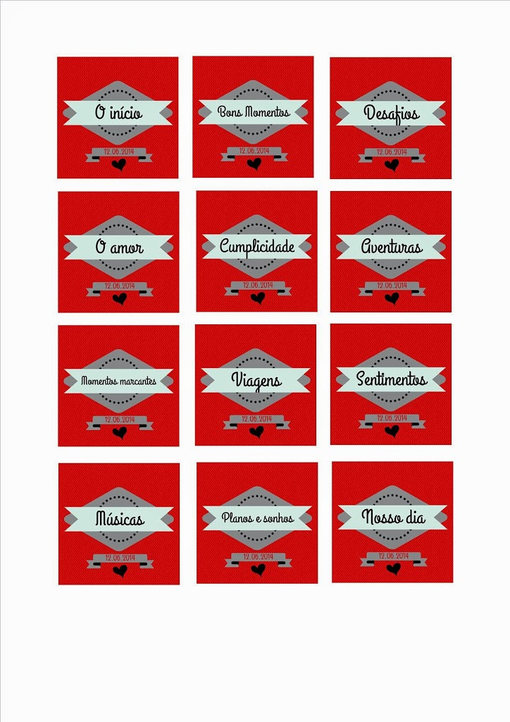 Projeto 12 cartas \u2013 Dia dos Namorados Namorada Criativa - Por