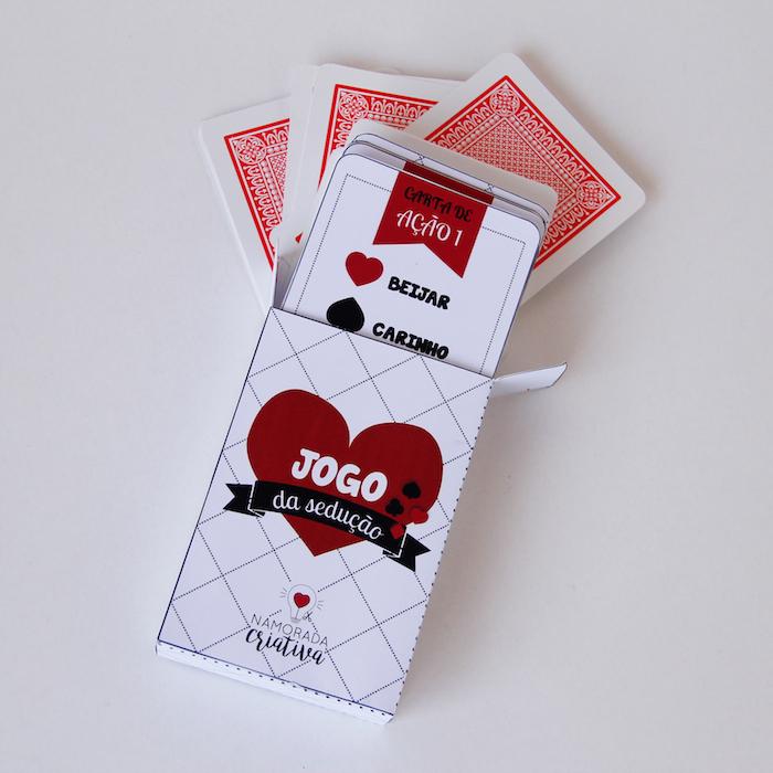 DIY Valentine\u0027s Day Jogo de Cartas Picante Namorada Criativa