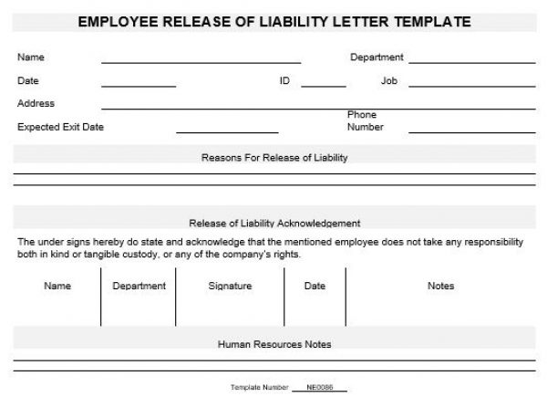 Letter Of Release Of Liability - Arch-times
