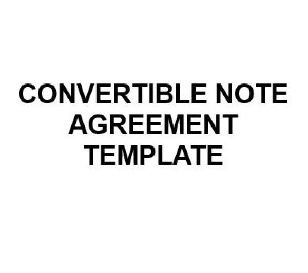 NE0185 Convertible Note Agreement Template u2013 English u2013 Namozaj - convertible note agreement template
