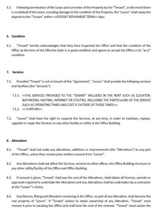 NE0150 Office Lease Agreement Template \u2013 English \u2013 Namozaj