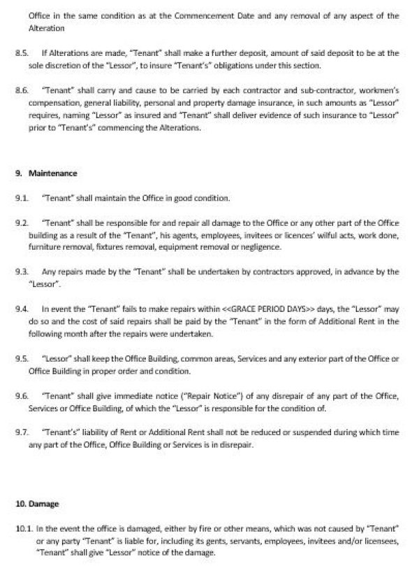 Office Rental Agreement Template - Eliolera - sample commercial lease agreement