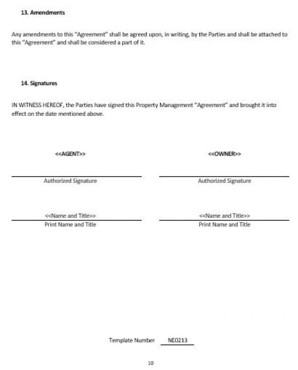 NE0213 Property Management Agreement Template \u2013 English \u2013 Namozaj - management contract template