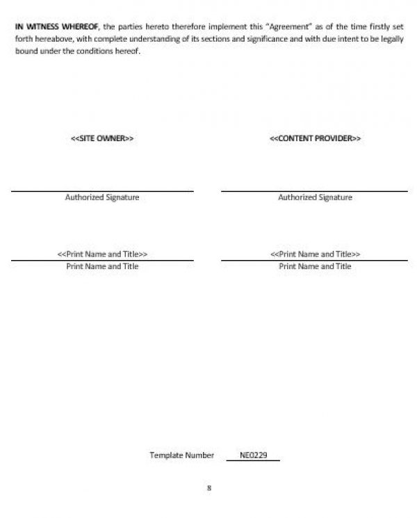 NE0229 WEB CONTENT ASSOCIATION AGREEMENT TEMPLATE \u2013 ENGLISH \u2013 Namozaj