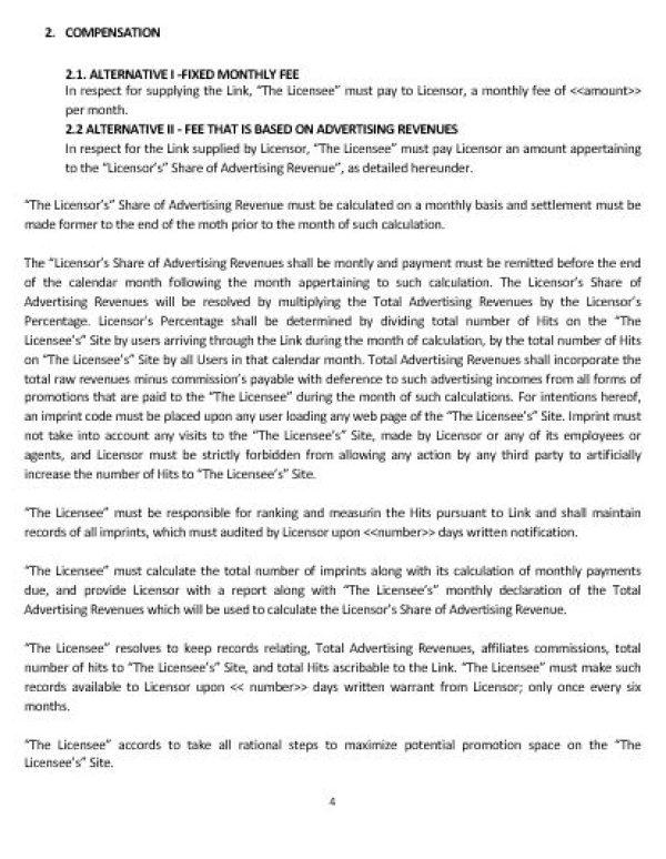 Linking Agreement Template Snip Emre De Brauw Blackstone Westbroek