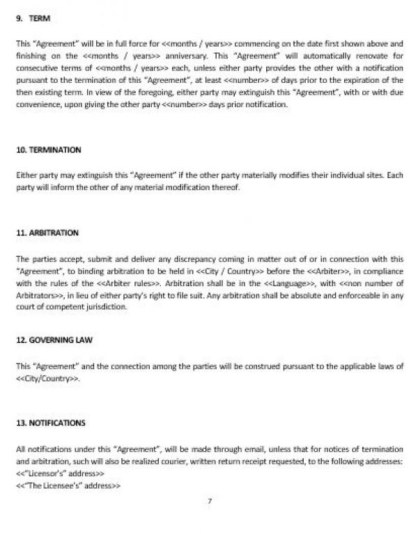 Linking Agreement Template User Agreement Template Staff Training
