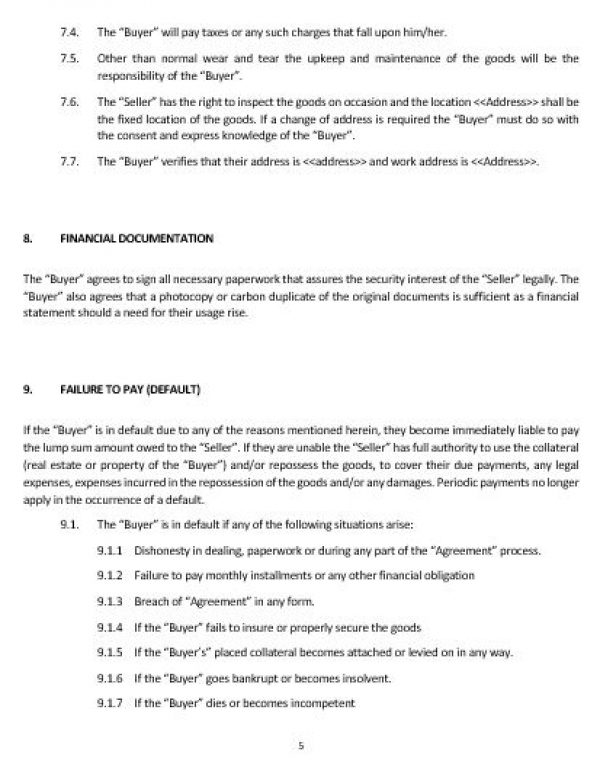 NE0240 CONSUMER GOODS\u0027 SALE AND SECURITY AGREEMENT TEMPLATE