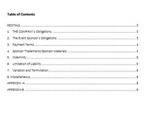 NE0285 EVENT SPONSORSHIP AGREEMENT TEMPLATE \u2013 ENGLISH \u2013 Namozaj