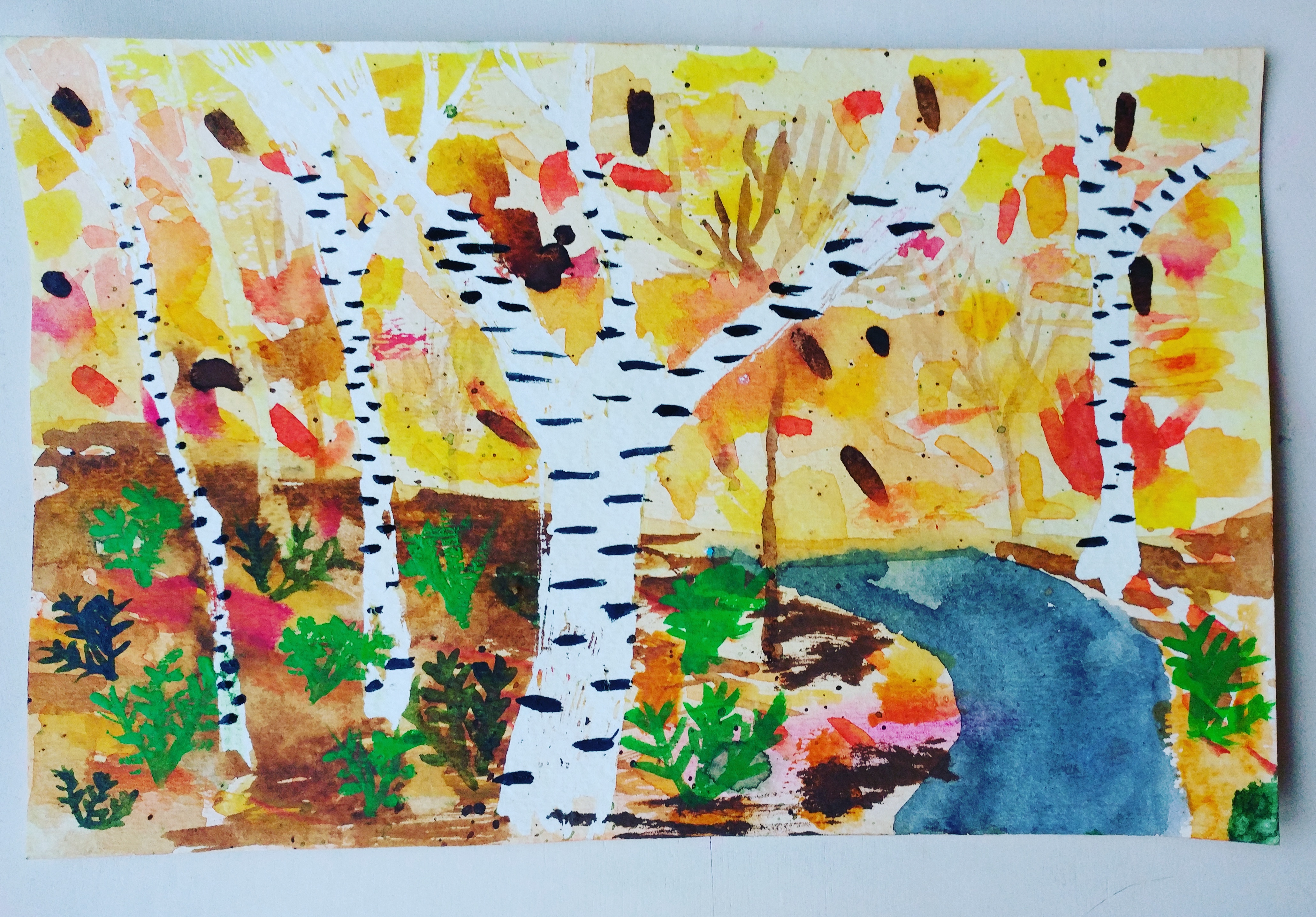 Forest watercolour lesson