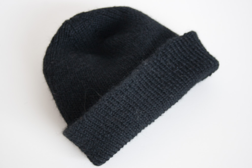 Knitted Watch Cap Pattern : Another One   the Reversible Watch Cap / Skull Cap / Beanie again Nancy Eli...