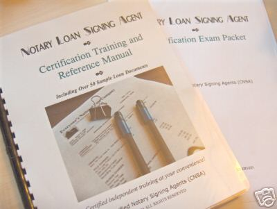 notary loan signing agent training and certification