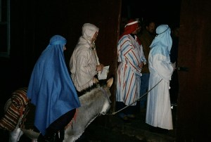 mary and joseph at barn door0001