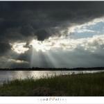 Aankomende regenwolken boven het Beuven
