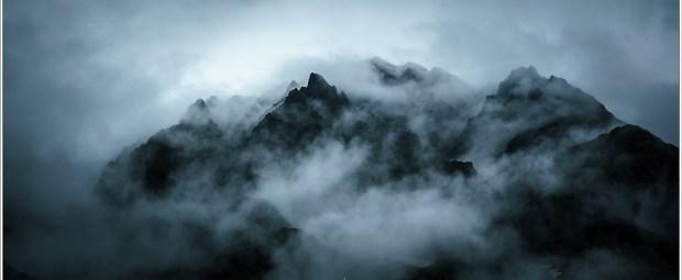 Een onwerkelijke wereld, tijdens een regenbui in de Hohe Tauern